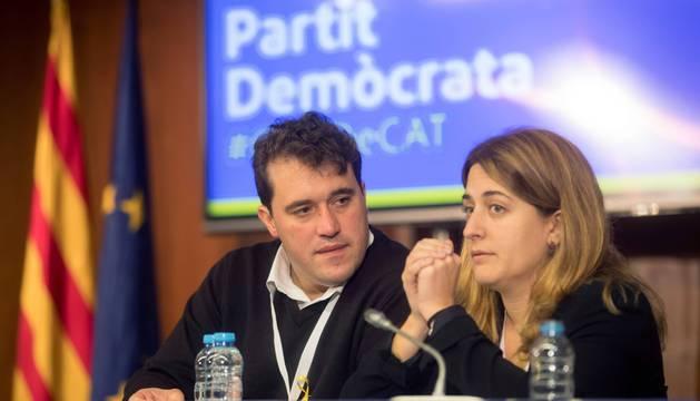 David Bonvehí, presidente del PDeCAT y Míriam Nogueras será vicepresidenta
