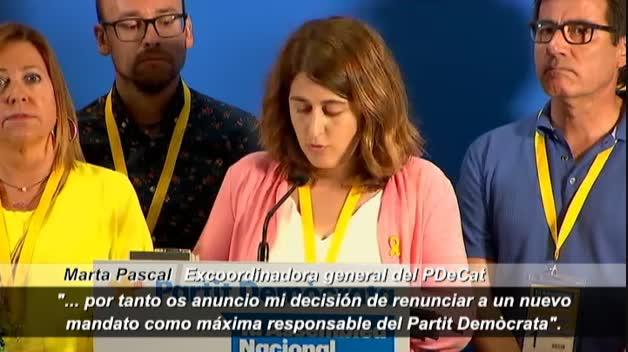 Marta Pascal abandona la dirección del PDeCat al asegurar que no cuenta con la confianza de Puigdemont