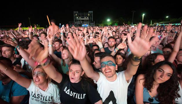 El público, en el concierto de Bastille en el FIB.