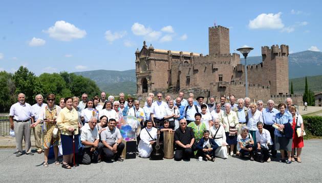 Parte del grupo de misioneros que acudió este martes a Javier.