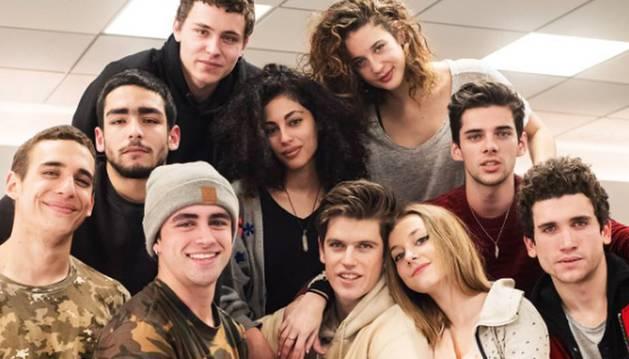 Foto del elenco de 'Élite', la nueva serie española de Netflix.