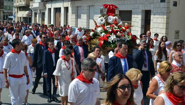 Imágenes de la procesión de las Santas Reliquias durante las fiestas patronales de San Adrián