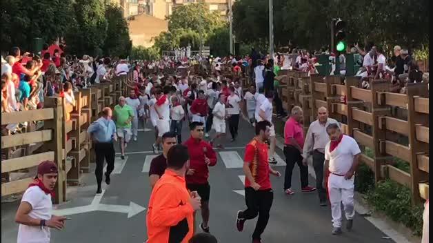 Vídeo del primer encierro de Tudela 2018