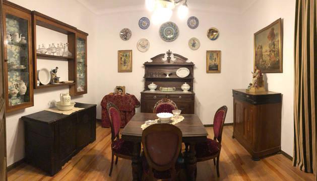 Recreación de una casa de finales del siglo XIX en la Casa Museo de Falces.