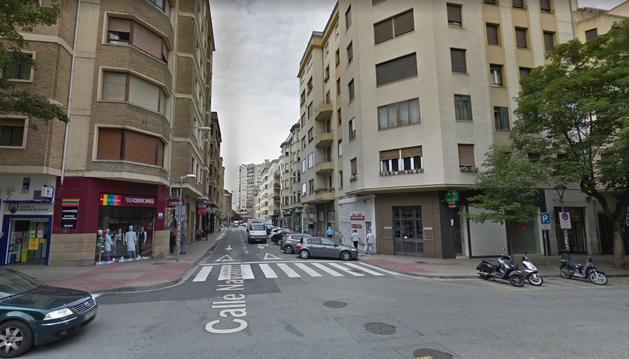 Calle Navarro Villoslada, en Pamplona