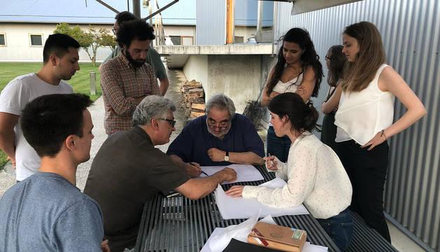 Estudiantes de último curso de arquitectura participan en el Campus Ultzama.