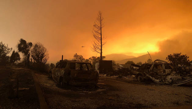 El incendio ha calcinado miles de hectáreas en California.