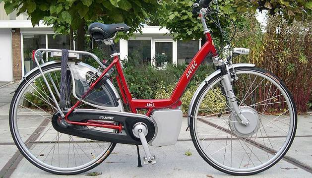 Una bicicleta eléctrica.
