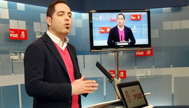 El secretario de Organización del PSN, Ramón Alzorriz.