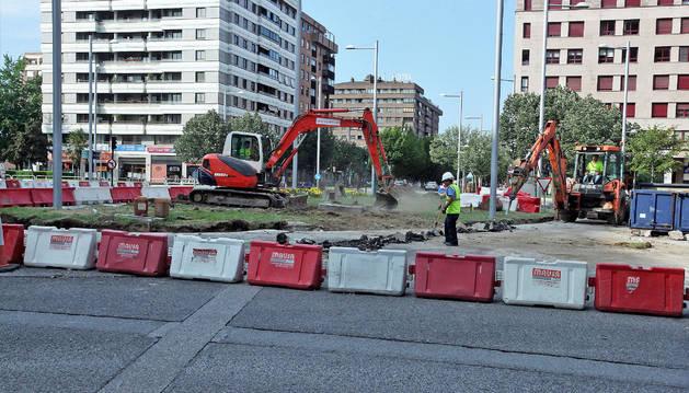 Foto de las obras de reurbanización de Pío XII comenzaron el pasado 16 de julio y terminarán en diciembre.