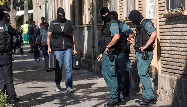 Detención en Mataró por parte de la Guardia Civil de la célula terrorista.