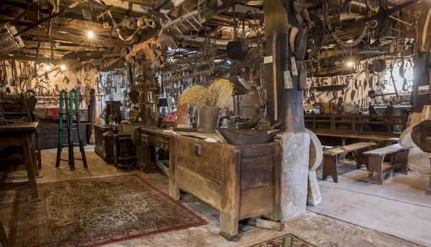 El interior del museo, con útiles y herramientas antiguas.