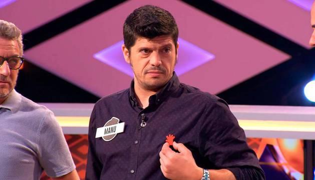 Manu Zapata lució la mano roja contra las agresiones sexistas en 'Boom'.