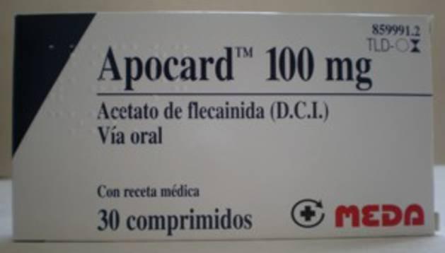 Una caja de comprimidos de 'Apocard'
