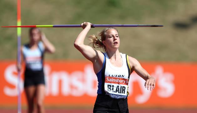 Joanna Blair en un campeonato anterior