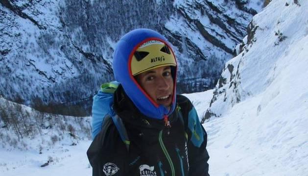 El alpinista navarro Iker Madoz.