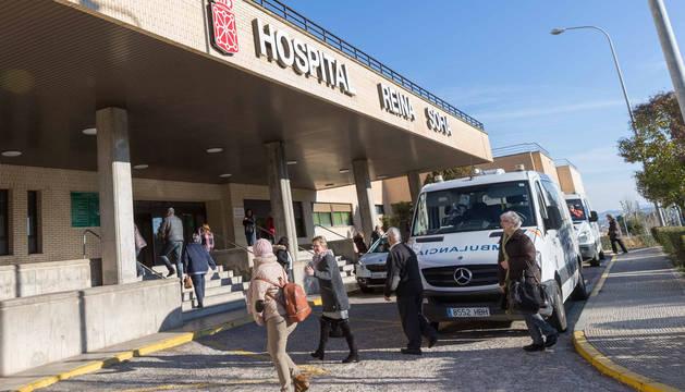 Imagen del acceso principal al hospital Reina Sofía de Tudela.