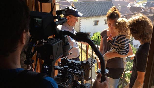 Un momento del rodaje de  'Ekilibrio'.