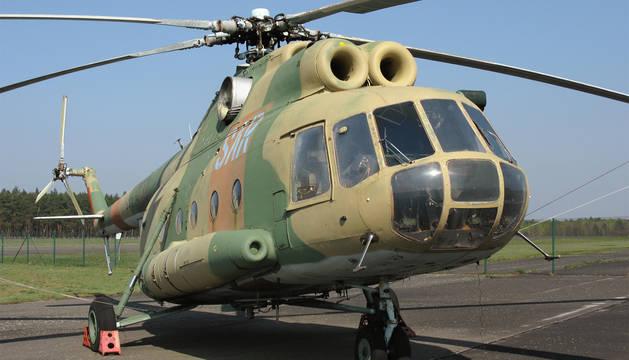 Helicóptero Mi-8 como el que se ha estrellado en Siberia.