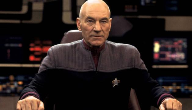 Patrick Stewart, en 'Star Trek Nemesis' en 2002.