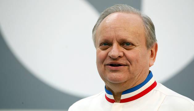 El chef Joël Robuchon, en París en 2015.