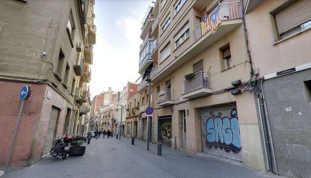 Una calle del distrito de Sans en Barcelona.