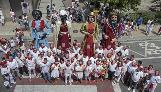 Imágenes de la noche del martes y el Día de la Merindad (miércoles) de fiestas de Estella