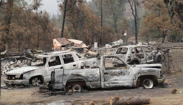 Danos en un rancho por el incendio
