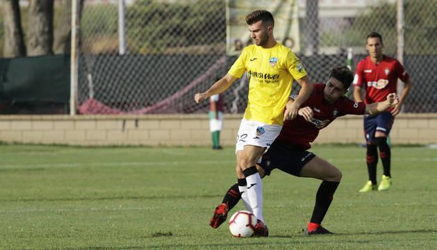 Amistoso entre Osasuna y Lleida en Marcilla