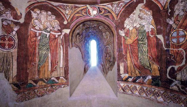 Una reproducción devolverá a Artaiz sus pinturas sacadas hace 60 años