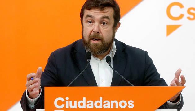 El secretario general del grupo parlamentario de Ciudadanos en el Congreso, Miguel Gutiérrez.