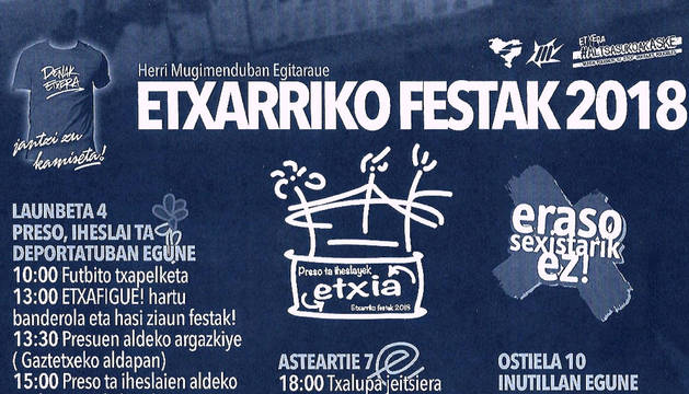 Cartel de las fiestas de Etxarri.