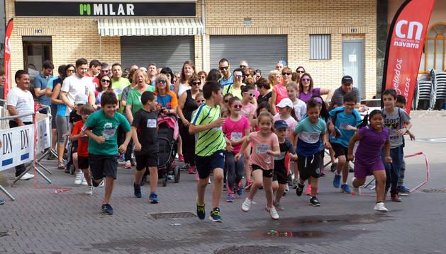 Los niños de Arguedas y Valtierra corrieron por el Reto Solidario el pasado mes de junio.