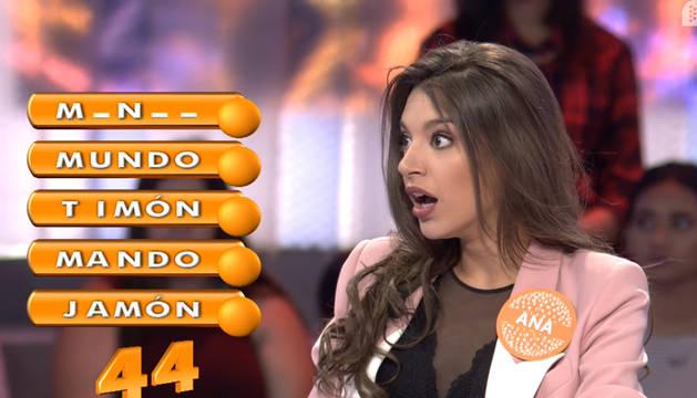 Antes de completar la prueba 'Letra a letra', Ana Guerra se quedó en blanco en una de las palabras.