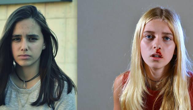 Las actrices navarras Ángela López y Paula Boneta.