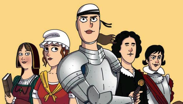 Parte de la portada de 'Heroínas secretas de la historia de España', de El Fisgón Histórico.