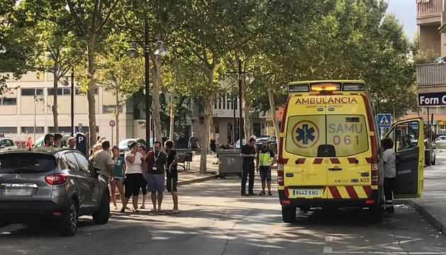 La ambulancia que intentó reanimar a la niña