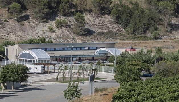 Vista de una de las instalaciones deportivas que gestiona la sociedad pública Gastizun, en Ayegui.