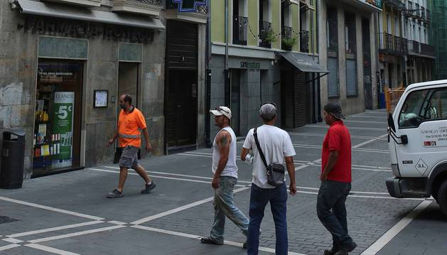 La calle Ciudadela, de apenas 66 metros de longitud, quedará sometida los próximos meses a tres proyectos residenciales.