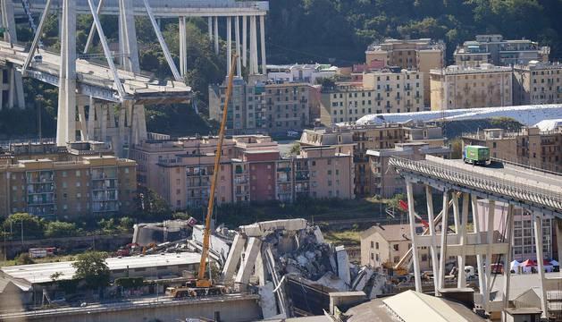 Un viaducto se derrumba en Génova