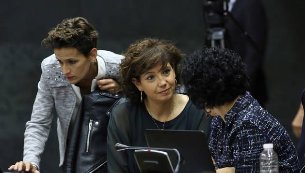 Ainhoa Unzu junto a María Chivite