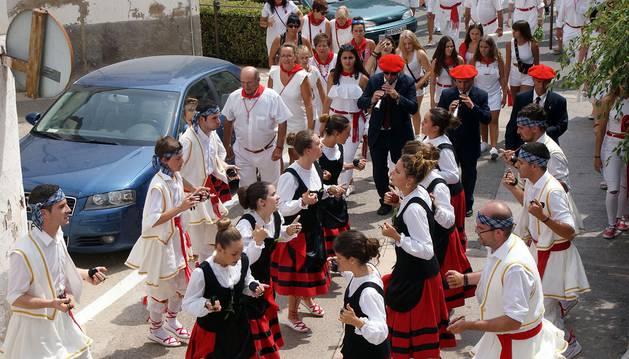 Procesión de San Roque en las fiestas de Monteagudo (16 de agosto de 2018)