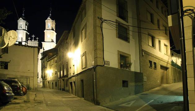 Vista de una calle de Corella.