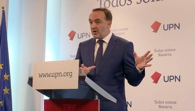El presidente de UPN, Javier Esparza.