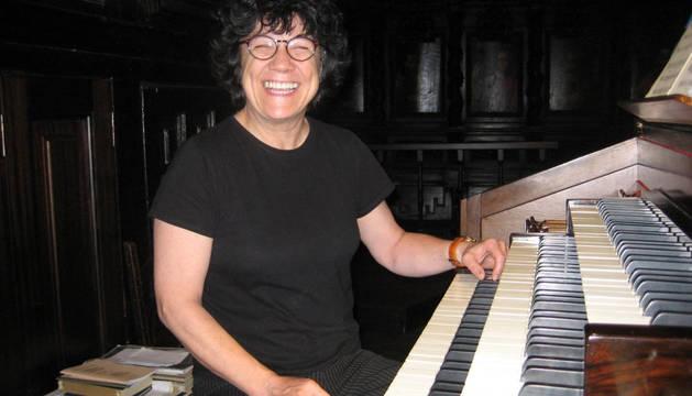 La organista Loreto Fernández Imaz.