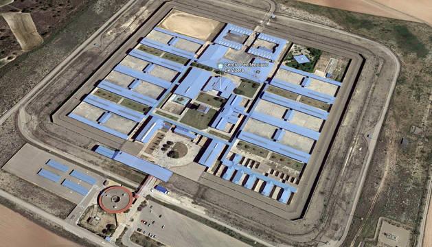Vista aérea de la prisión de Zuera, en Zaragoza.