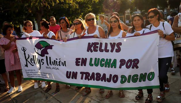 Las conocidas como 'Kellys' en una reciente protesta contra sus condiciones de trabajo en Málaga.