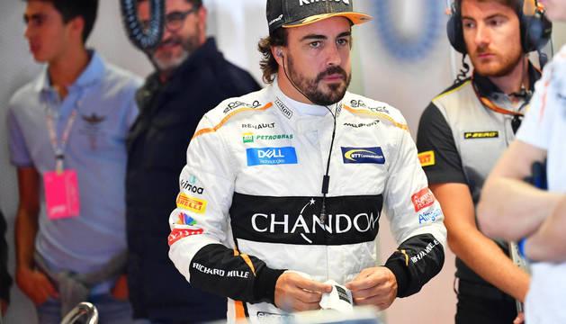 Fernando Alonso, en el circuito de Monza.