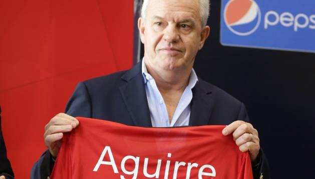 Javier Aguirre, en su presentación como seleccionador de Egipto