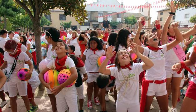 Cohete de las fiestas de Fontellas (5 de septiembre)